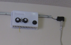 Long-term sensor package installed in a suite